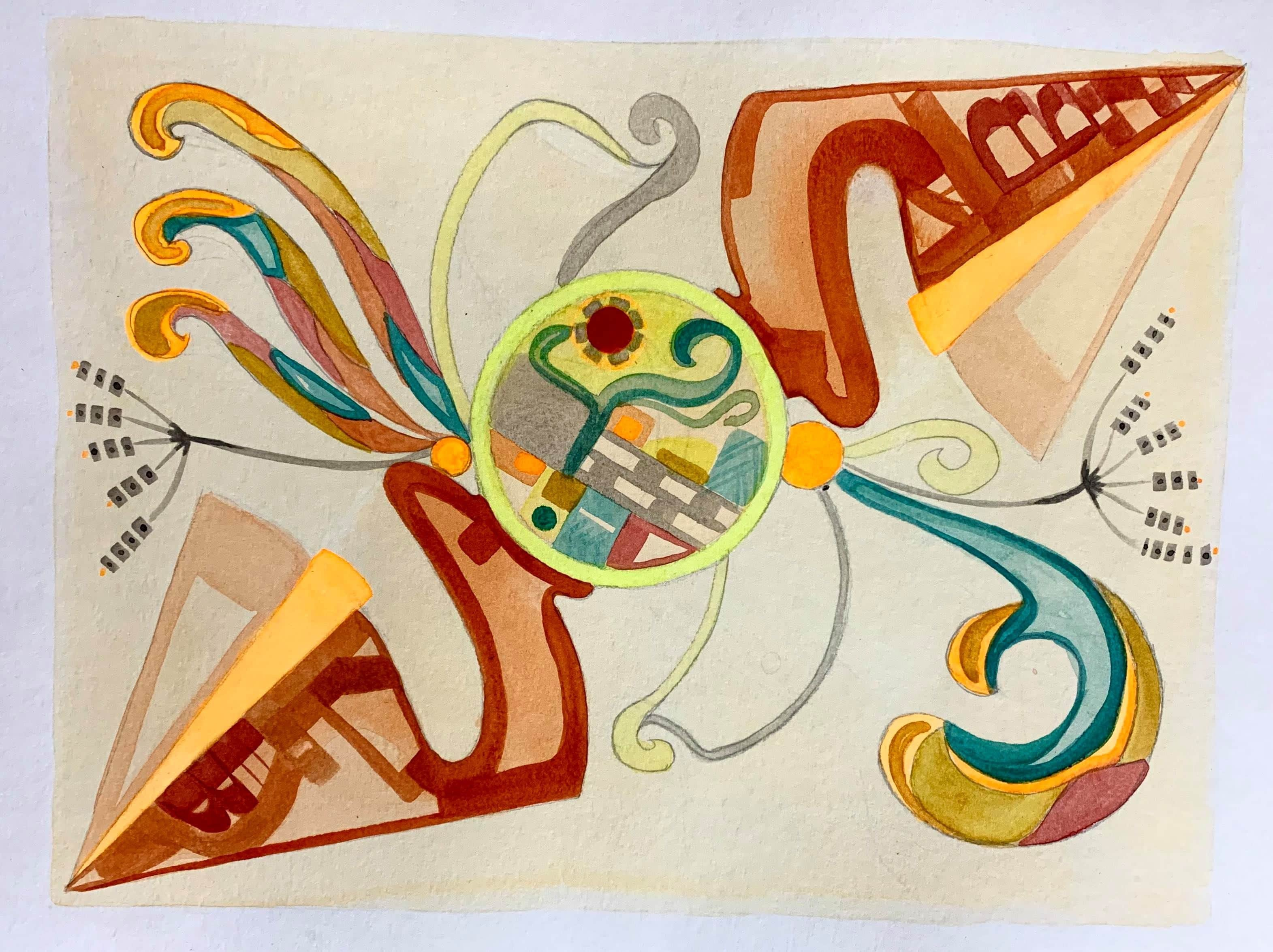 Mystérieuse Fleur (Geometrie Art-Nouveau)